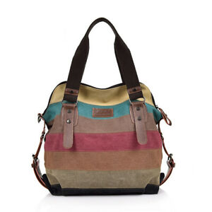Women Canvas Handbag Shoulder Bags Hobo Bag Large Travel Messenger Tote Purse
