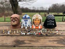 Vintage Star Wars Action Fleet Micro Machines Galoob Heads Set Lot RARE