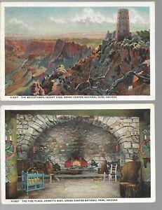 U.S. 3 Original 1930's Grand Canyon Post Cards Used