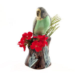 Quail Ceramics   Bud Vase  Budgerigar - Green