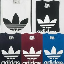 Adidas Originals Trefoil Print Short Sleeve Crew Neck Mens T-Shirt UK