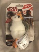 "STAR WARS The Last Jedi Talking Soft Plush Mini PORG Backpack Clip On 4"" Toy"
