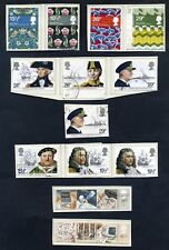 Lot of 40 stamps, Uk, 1982 Scott 965-968, 983-1010, Eight Complete Sets