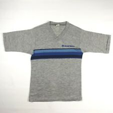 Vtg Eastern Airlines Gray & Blue Knit V-neck T-shirt Shirt, 1980s Adult Small