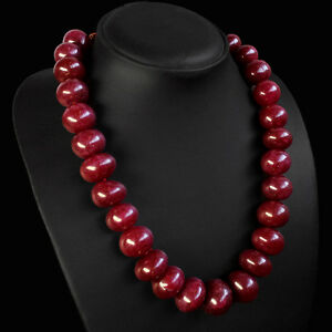 VERY TREMENDOUS EVER 1079.00 CTS NATURAL ROUND RED RUBY BEADS NECKLACE STRAND