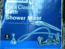 HOMEBASE BETA CLASSIC BATH SHOWER MIXER RRP £65 NEW IN DAMAGED BOX