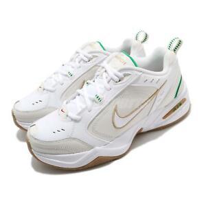 Nike Air Monarch IV 4 White Lucky Green Gold Men Unisex Training Shoe 415445-103
