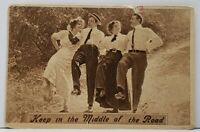 Victorians Skipping in the Road, Keep in the Middle 1912 Virginia MN Postcard H8