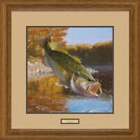Cartwheeling - Fish Framed Limited Edition Print by Mark A Susinno