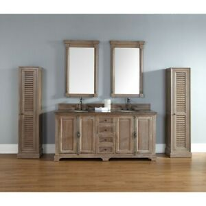 James Martin Providence 72' double Vanity Cabinet, Driftwood - 238-105-5711