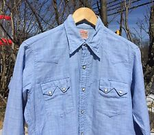 Original Vintage Levis Big E Era Short Horn Western Wear Sawtooth Shirt. Rare!