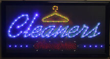 Cleaner open 24hrs new led lighted sign home decor hanging color message display