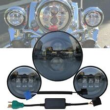 """7"""" New Led Projector Daymaker Headlight + Passing Lights For Harley Touring BLK"""
