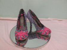 "Irregular Choice ' Mutiny Pink Heart Union Jack Gingham 3.5"" Shoes  EU36 UK3"