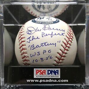 "Yogi Berra Don Larsen  ""The Perfect Battery"" Signed MLB Ball, PSA **MINT 9.5**"