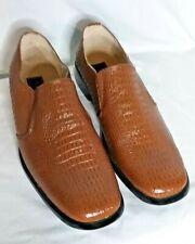 Climate Italia Brown Crocodile Design Shoes Men's size13