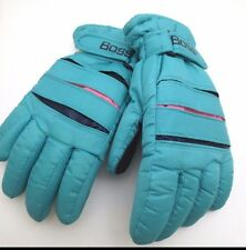 Vintage Gloves 80's 90's Teal Insulated Thinsulate Boss Ladies Pink Ski Winter