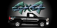 2 4x4 Truck Bedside Decals Stickers-A17A4X4
