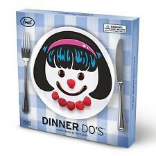 "Dinner Do's Girl Hairstyle 9"" Dinner Plate (Set of 3) Design A Face For Kids"