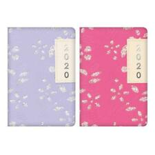 2020 Week to View Pocket Diary Glitter Floral Sparkles Design