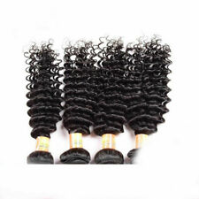 50g/Pcs Natural Black Color Deep Curly Virgin Human Hair Extensions Weave Weft