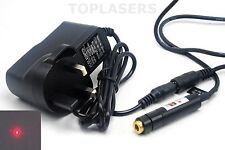 Positioning/Sewing 650nm 5mw Red Laser Dot Module Adjustable Lazer w 5V Adapter