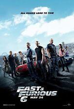 Fast and Furious 6 (2013) Movie Poster (24x36) - Paul Walker, Vin Diesel NEW