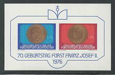 Liechtenstein # 590 Mnh 70Th Birthday Prince Franz Joseph Ii 1976 Souvenir Sheet