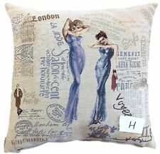 "1 Piece 18"" Home Decor Vintage French Friends Sisters Throw Pillow Cushion Cover"