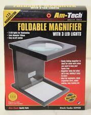 Plegable Lupa, 110 mm de diámetro con LED de luces de Am-Tech