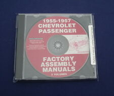 55 56 57 Chevy Passenger Car CD Factory Assembly Manuals *NEW* 3-Volumes