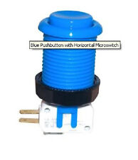 New Blue Pushbutton W/ Microswitch For Arcade Game Mame