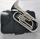 Quality 3 piston Bb silver nickel Baritone Horn New case