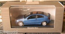 MERCEDES BENZ C KLASSE SPORT COUPE 2000 CL203 JASPER BLUE METAL MINICHAMPS 1/43
