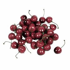 Faux Fake Craft Cherry Simulation Fruits Decor Desk Ornament 40 Pcs