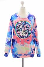 T-512 blau Lolita Pullover Sweatshirt Unicorn Einhorn Pony Harajuku Japan Juicy