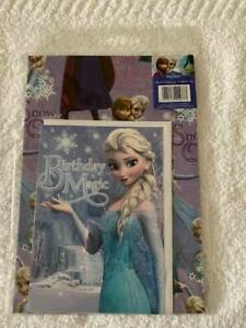 FROZEN GIFT WARP, CARD & TAG WRAPPING SET BIRTHDAY CARD