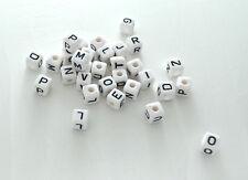 10 Perle Blanche Acrylique Lettre Alphabet 10mm Bracelet, bijoux, Attache tetine