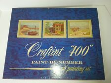 Craftint Vintage 1958 Paint By Numbers 400-B Distant Lands Unfinished / Finished