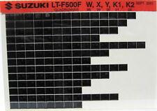 Suzuki LT-F500F Quadrunner 1998 1999 2000 2001 02 Parts Catalog Microfiche s538