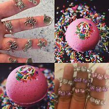 2 Surprise Ring Jewelry Birthday Cake Bath Bombs Pink VS Love Spell Ultra Lush