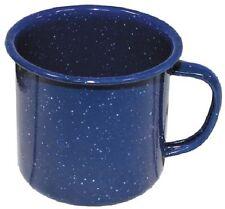 Email Tasse Emaille beschichtet Trink Becher Outdoor Camping Geschirr blau 350ml