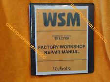 Kubota B1830, B2230, B2530, B3030  workshop Service Manual 3 ring binder