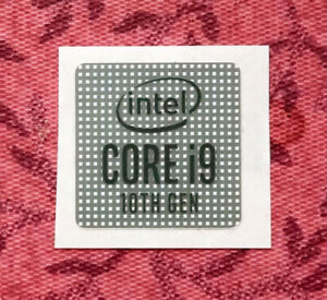 Intel Core i9 10th Generation Sticker 18 x 18mm Ice Lake Case Badge For Desktop