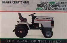 Sears Craftsman 1989 Lawn Yard Garden Tractor Riding Mower Sales Brochure Manual