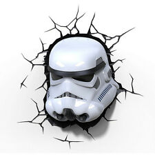 Star Wars: Storm Trooper 3D FX Deco LED Wall Light Battery Powered - New Other
