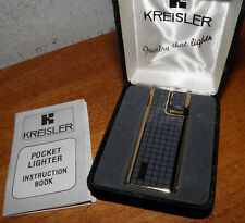 Vintage Kreisler Electronic Butane Lighter Gold Tone Gray Art Deco NOS, SAVE BIN