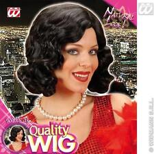 Ladies Black Charleston Bob Wig 20'S Flapper Bugsy Malone Fancy Dress
