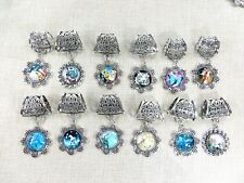 US SELLER, 10 sets scarf charms dolphin owl mermaid jewelry scarf pendant slide