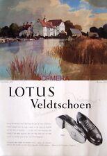 1954 LOTUS Veldtschoen Shoe Advert 'Hambelden Mill': Rowland Hilder Art Print AD